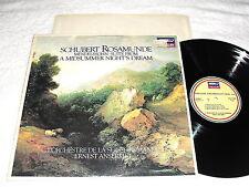 """Ansermet/Rome """"Schubert: Rosamunde; +Mendelssohn"""" 1980 LP, Nice EX!, STS.15580"""