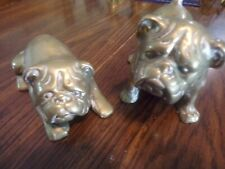 Brass Bull Dogs Vintage Pair 5 Inch