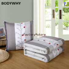 2 In 1 Pillow Cushion Quilt Portable Home Office Sofa Air Conditioning Quilt New