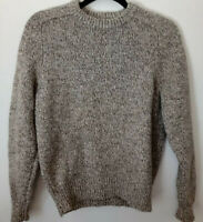 J.Crew  Size Medium Pullover Knit Crew Neck Lambs Wool Brown Sweater L1808