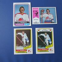 J.C. TREMBLAY Quebec Nordiques O-Pee-Chee (4 diff) 1974-75 1975-76 1976-77  OPC