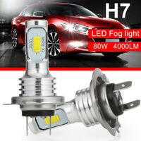 2X H7 CREE CSP LED Headlight Kit 160W 6000K 8000LM Replacement Bulbs Fog Lights