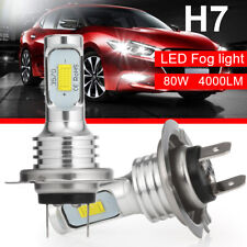 2X H7 CREE CSP LED Headlight Kit 160W 6000K 8000LM Replacement Bulbs Fog Lights