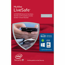 McAfee LiveSafe 2015 2016 Device Attach (code In A Box)