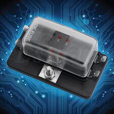 DC32V Mini Car Truck 4 Way ATC/ATO Blade Fuse Box with LED Warning Set Kit