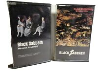 Black Sabbath Cassette Tape Lot Heaven & Hell Greatest Hits 1st Editions!