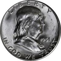 1951-S Franklin Half Dollar Nice BU