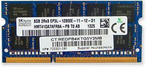 HP Hynix 8GB EP3L-12800E ECC Unbuff SODIMM 723301-081 HMT41GA7AFR8A-PB