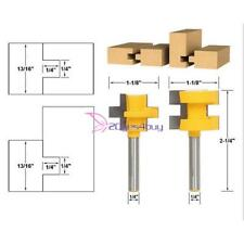"""2pcs 1/4"""" Shank Tongue Groove Router Bit Set For Woodworking Accessories Tools"""