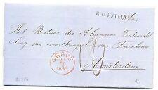 NED  EGYPT LANGST = RAVESTEIN = 1865   BRIEF   VW PR EX