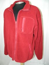 American Eagle Outfitters Dark Red Plush Fleece Zipper Front Jacket Size XL