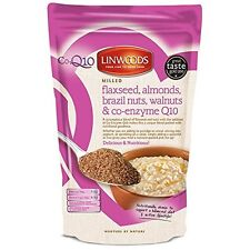 Linwoods lavorato Flaxseed MANDORLE noci del Brasile noci & co-enzyme Q10 360g