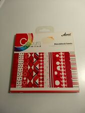 COLOURS UNLIMITED DECOBLOCK BASIC RED /15X15 CM /48 SHEETS/12 DESIGNS X 4 NEW