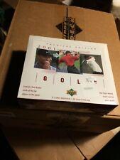 2001 Upper Deck Golf Box Tiger Woods  RC 1- Boxes lot