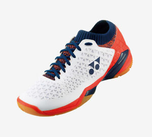 Yonex Eclipsion Z Mid Badminton Shoes Unisex White Orange Racket Racquet NWT