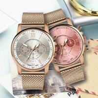 HOT Women Watch Stainless Steel Analog Quartz Dress Wrist Watch Bracelet Gift