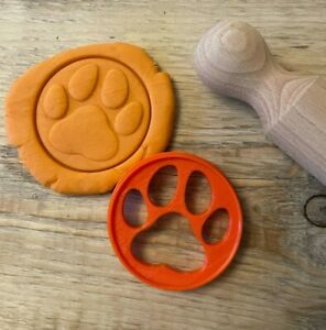 Paw Print cookie biscuit cutter, Cute dog, Animal embosser stamp decoration