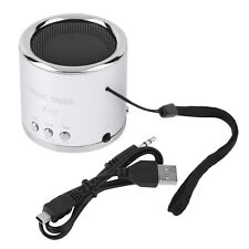 Mini Rechargeable Portable Speaker Support TF Card For Phone Tablet Silver SY