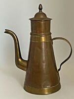 Vintage Old Copper/Brass Tea/Coffee Kettle Pot w/Infusion Filter