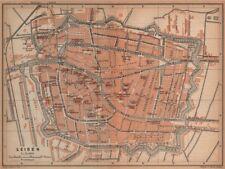 LEIDEN LEYDEN antique town city stadsplan. Netherlands kaart. BAEDEKER 1901 map