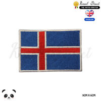 ICELAND National Flag Embroidered Iron On Sew On Patch Badge For Clothes etc