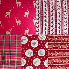 Tela Navidad de vuelta Fieltro Hoja A4 Rojo Tartán arco Maker Brillo Die Cut