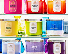 New candles NEW BATH & BODY WORKS 3 WICK CANDLES ~ CHOOSE YOUR SCENT~White Barn