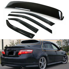 FOR 2007-11 TOYOTA CAMRY LE SE JDM REAR WINDOW ROOF VISOR + DOOR VISOR 5PC COMBO