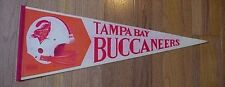 OLD 1970s BUCKO LOGO TAMPA BAY BUCS 2 BAR HELMET PENNANT UNSOLD STOCK DISCOUNT D