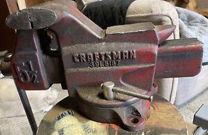 Vintage Craftsman Swivel Anvil BenchVise #319.51871; 5 1/2 in. Jaws, Machinist