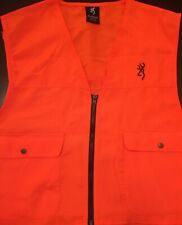 Browning Hunting Safety Vest for Adult - Blaze Orange - Sizes in M, L, XL