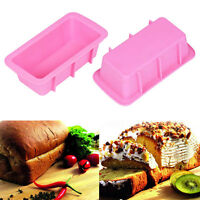 Silicone Bread Loaf Mold Cake DIY Non Stick Bakeware Baking Pan Oven Soap Mould