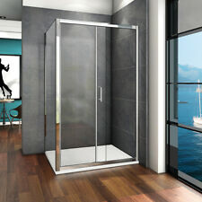 1100X900mm Walk In Sliding Shower Enclosure Glass Screen Door Cubicle Panel Tray