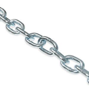 Stahlkette Rundstahlkette lfm kurzgliedrig & langgliedrig DIN5685 verzinkt