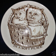 """ADAMS 4.75"""" COASTER DODO DESIGNS IN A SOFT PLACE KITTENS CATS IN A BASKET BROWN"""