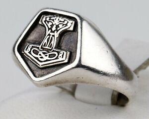 RING Viking SYGNET Mjölnir Sterling SILVER 925 Unisex WOMAN Man GIFT hammer THOR