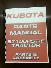 Heavy equipment manuals books for kubota ebay kubota b7100hst e b7100hst d 7100 parts manual assembly manual exploded diagrams fandeluxe Choice Image