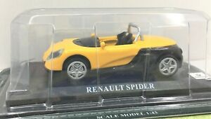 Delprado Collection* Renault Spider  With Info Sheet*  In Case ** 1:43