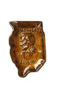 Vintage 1968 ASHTRAY OF ILLINOIS Abraham LINCOLN HAEGER 1095 Illinois State
