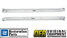OER 1971-1976 IMPALA CAPRICE 2 DOOR SILL SCUFF PLATES-PAIR- GM LICENSED PART