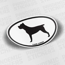 Cane Corso Dog Oval Vinyl Decal Die Cut Sticker Bumper Laptop Car Pet Perro