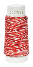 Cosmo Hidamari Sashiko Variegated Thread 30 Meters Rose Bankquet
