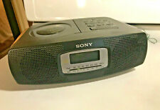 Sony Am/Fm Alarm Clock Radio with Cd - Icf-Cd825Rm - Tested & Works Well
