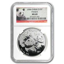 2006 China 1 Oz Silber Panda MS-69 NGC-SKU #39023