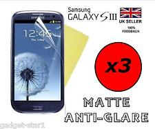 3x HQ MATTE ANTI GLARE SCREEN PROTECTOR COVER GUARD FOR SAMSUNG GALAXY S3 i9300