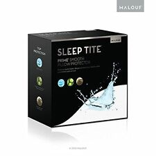 SLEEP TITE Smooth 100% Waterproof Hypoallergenic Twin Mattress Protector Malouf