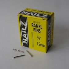 Nailz Bright Panel Pins 15mm 5/8inch 30g Box Made In England