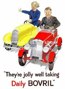 They're Jolly Well, Vintage Bovril advert Reproduction poster, Wall art.