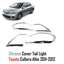 CHROME REAR TAIL LIGHT LAMP COVER FIT FOR TOYOTA COROLLA ALTIS 2010-2012