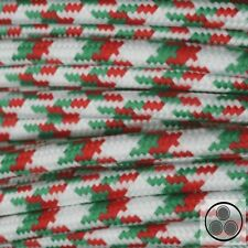 Textilkabel Stoffkabel Lampen-Kabel Stromkabel, Stern Grün Rot 3 adrig